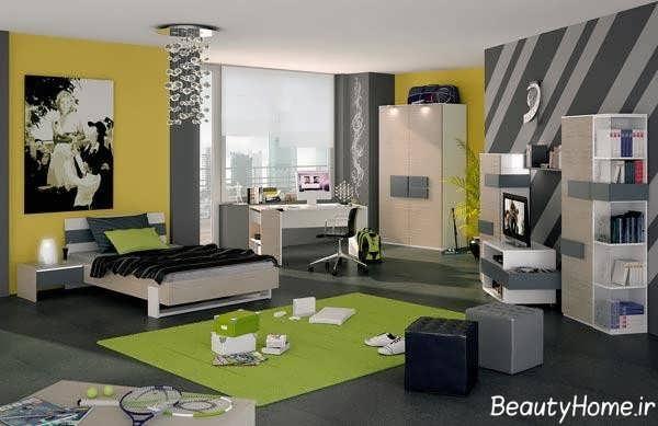 طراحی داخلی متفاوت اتاق جوانان باکلاس