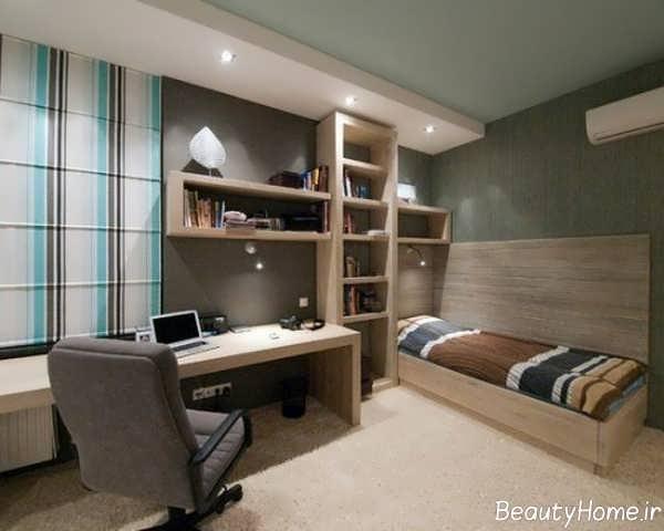 طراحی داخلی زیبای اتاق جوانان پسر