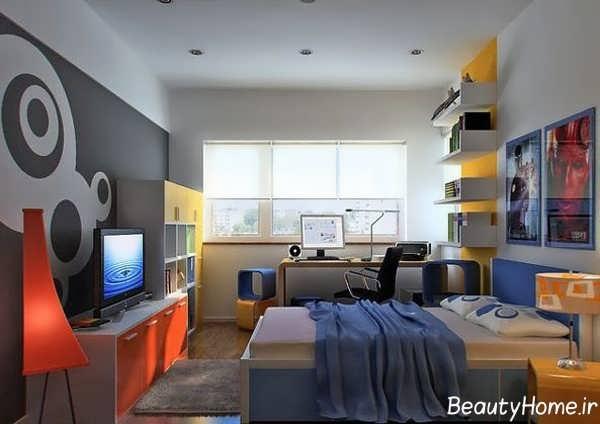 طراحی داخلی منحصر به فرد اتاق جوانان