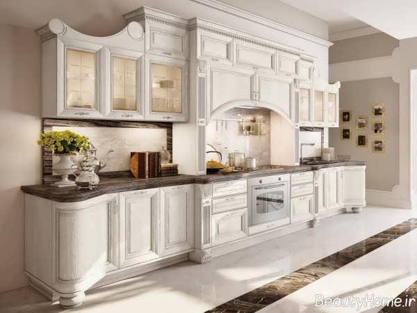دکوراسیون سفید و مدرن آشپزخانه