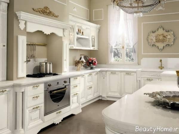 دکوراسیون سفید آشپزخانه ایتالیایی