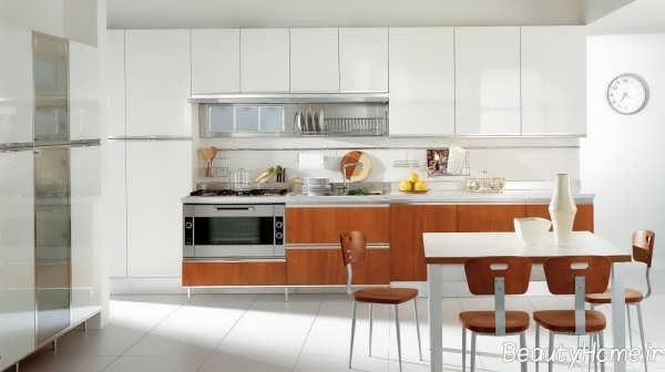 دکوراسیون آشپزخانه شیک اروپایی