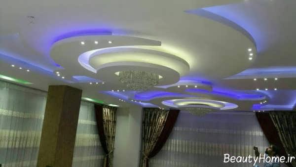 طراحی نورپردازی سقف کاذب کناف