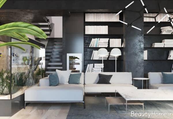 طراحی داخلی مینیمال اتاق نشیمن