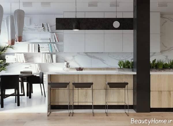 طراحی داخلی مینیمال آشپزخانه