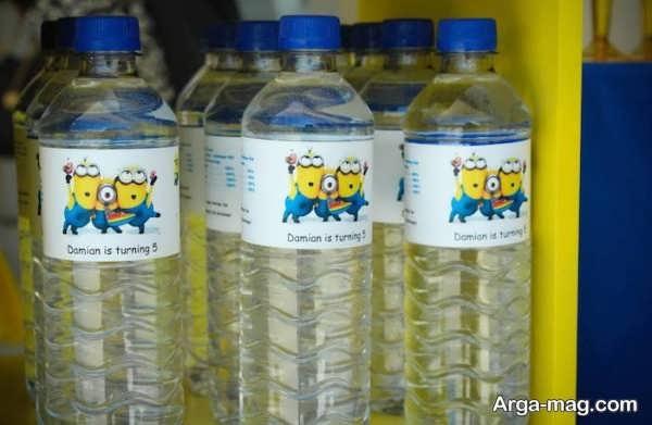 تزیین بطری آب معدنی با تم مینیون
