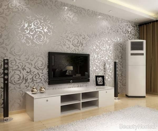مدل کاغذ دیواری برای اتاق پذیرایی