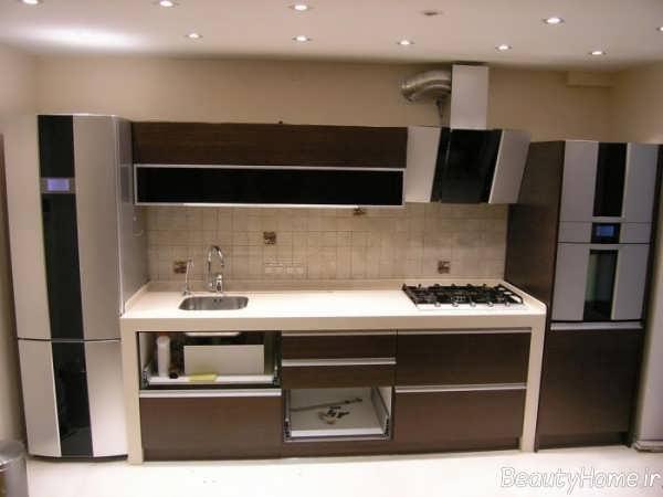 طراحی داخلی شیک و مدرن آشپزخانه