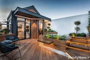 طراحی زیبا و کاربردی باغ در بام