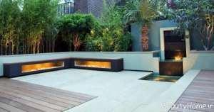 دکوراسیون باغ در بام شیک
