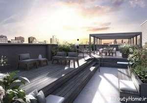 باغ در بام با طراحی شیک و کاربردی