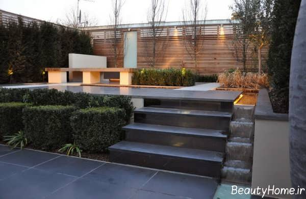 طراحی داخلی زیبا و شیک باغ در بام