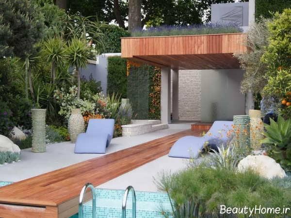 طراحی زیبا و شیک باغ در بام