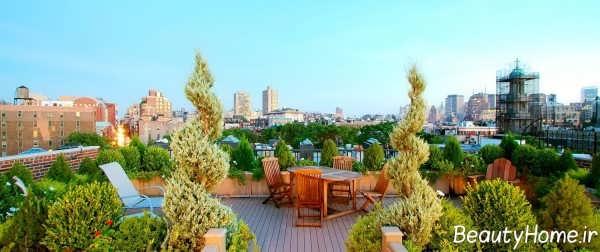 طراحی شیک و زیبا باغ در بام