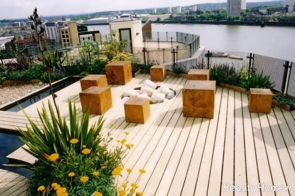 ایده هایی برای طراحی باغ در بام