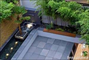 درختکاری باغ در بام