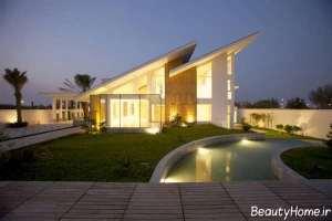 طراحی نور پردازی بام در باغ