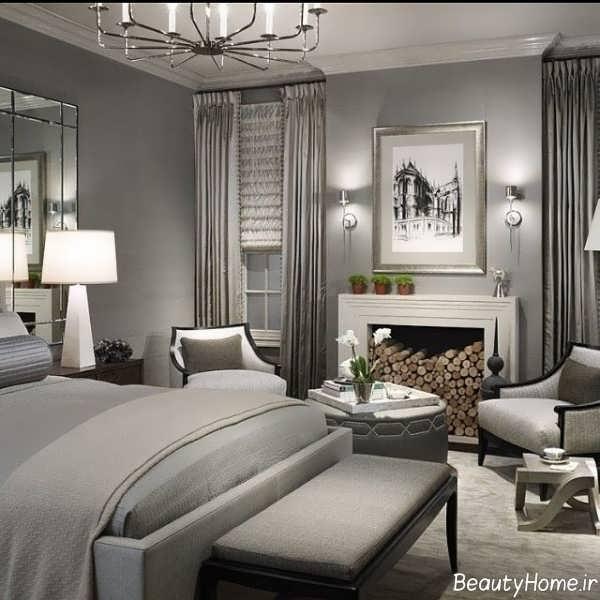 دکوراسیون داخلی اتاق خواب نقره ای