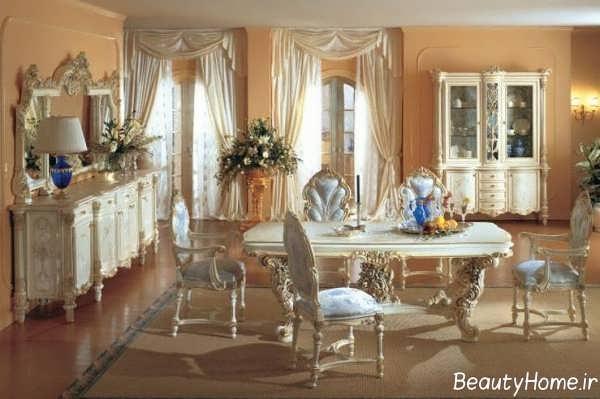 مدل میز ناهار خوری سلطنتی زیبا و جذاب