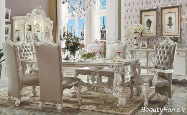 مدل زیبا و جدید میز ناهار خوری