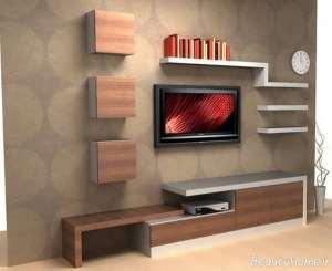 میز تلویزیون شیک دیواری