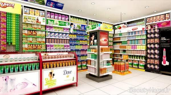 دکوراسیون مدرن و جذاب سوپر مارکت