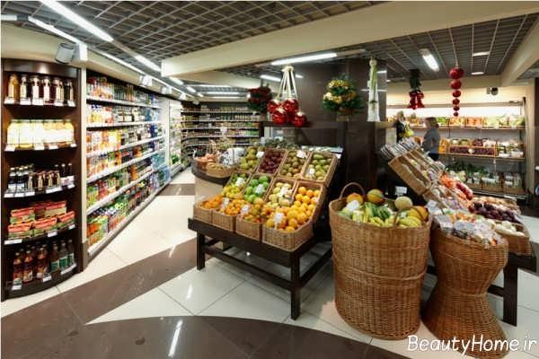 طراحی داخلی زیبا و جذاب سوپر مارکت
