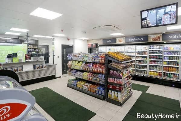 دکوراسیون زیبا و مدرن سوپر مارکت