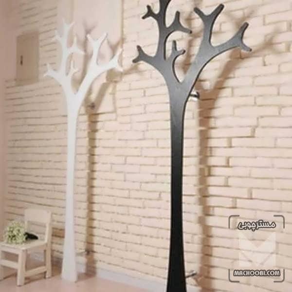 جالباسی چوبی با طرح درخت