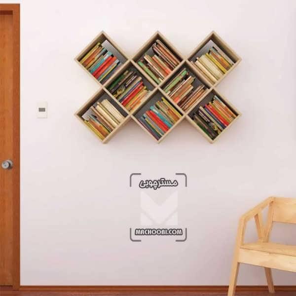 کتابخانه چوبی دیواری برای مدارس