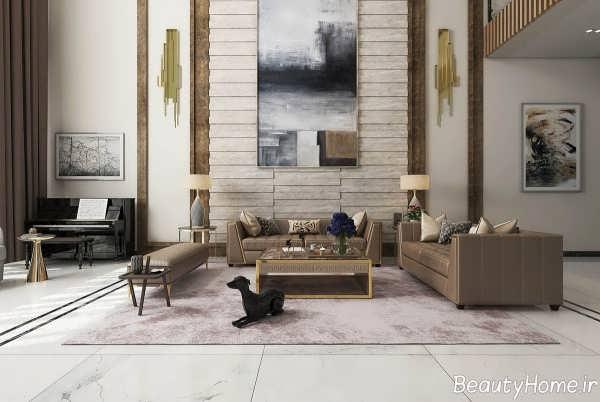 طراحی زیبا و شیک اتاق نشیمن