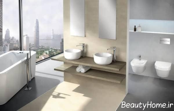 دکوراسیون حمام لاکچری و مدرن