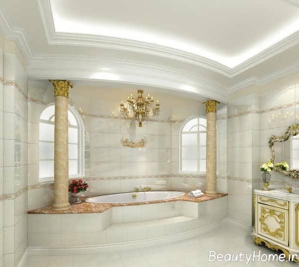 دکوراسیون سفید حمام
