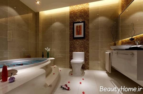 طراحی حمام های مدرن و لاکچری با ایده های زیبا