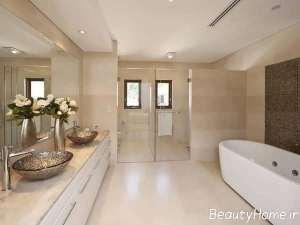 دکوراسیون زیبا و مدرن حمام