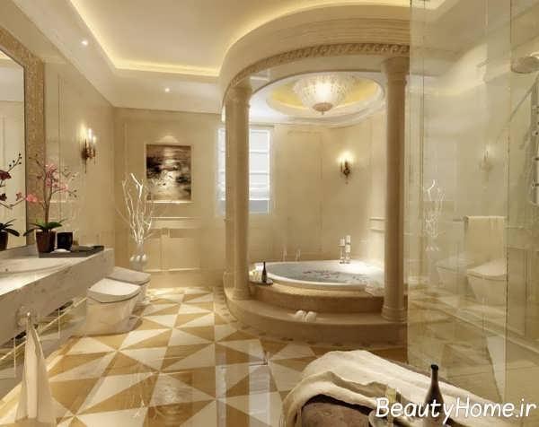 نورپردازی زیبا و جالب حمام