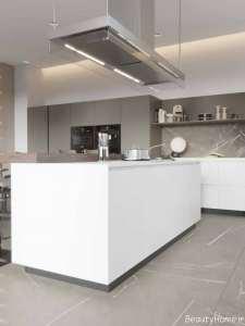 دکوراسیون آشپزخانه سفید و زیبا