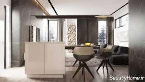 دکوراسیون مدرن و شیک خانه آپارتمانی