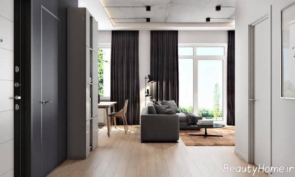 طراحی داخلی اتاق نشیمن مدرن