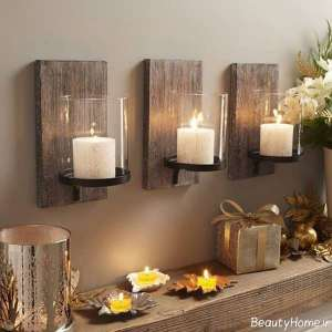 تزیین دیوار با شمع
