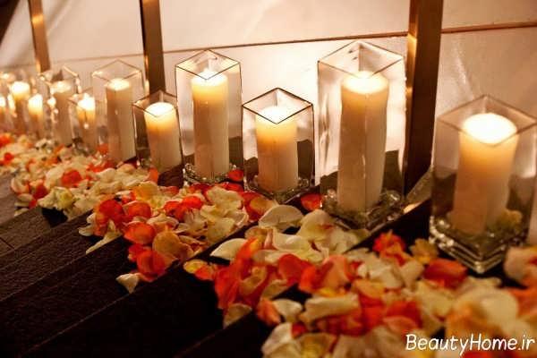 تزیین راه پله با شمع