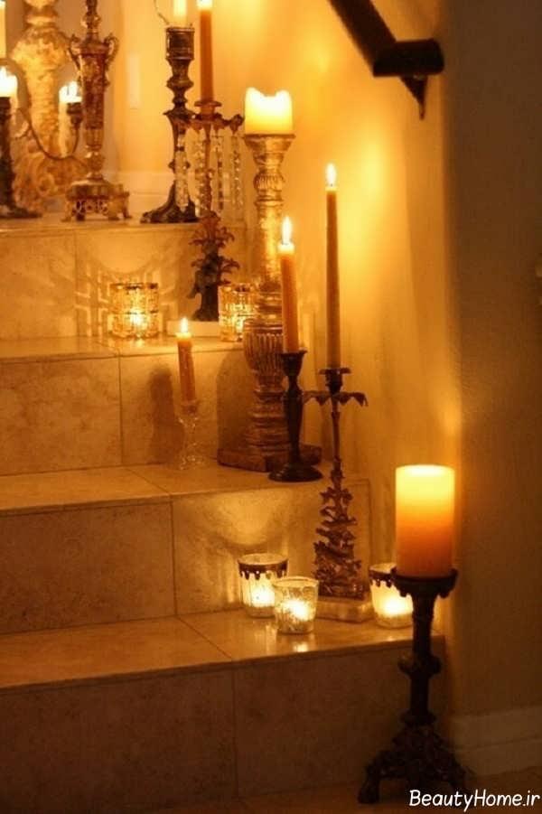 تزیین زیبا و خلاقانه منزل با شمع