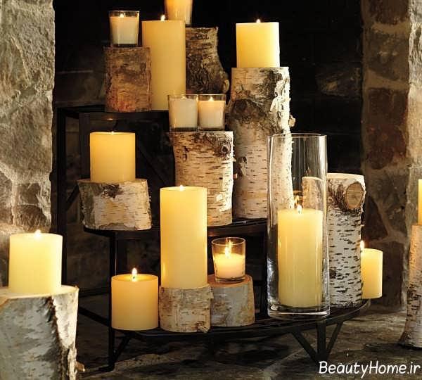 تزیین خاص و زیبا منزل با شمع