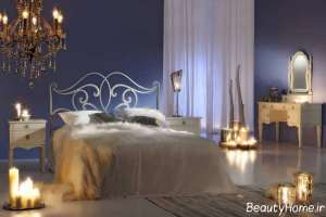 تزیین زیبا و شیک اتاق خواب با شمع