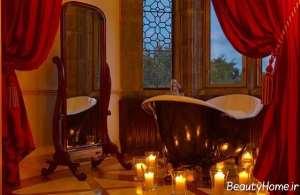 تزیین سرویس بهداشتی شیک با شمع