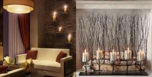 تزیین منزل با شمع با ایده های خلاقانه