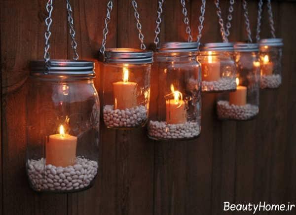 تزیین منزل با شمع های زیبا