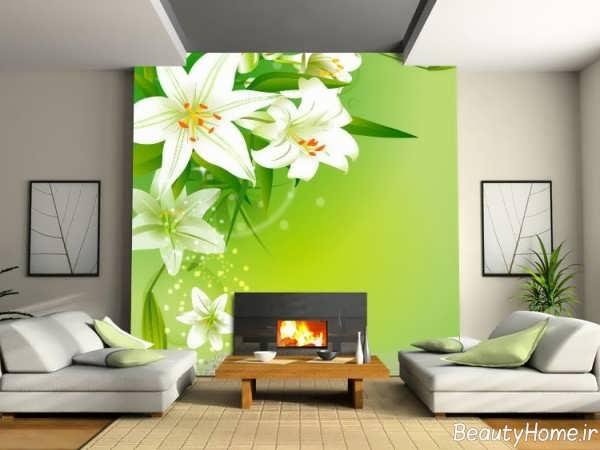 مدل کاغذ دیواری اتاق نشیمن شیک
