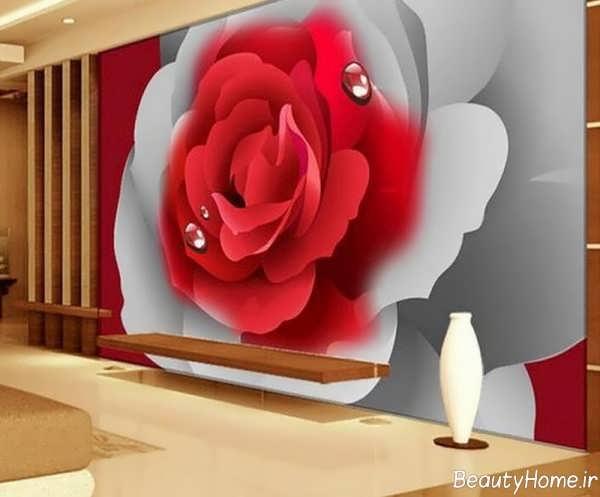 مدل کاغذ دیواری زیبا برای اتاق نشیمن
