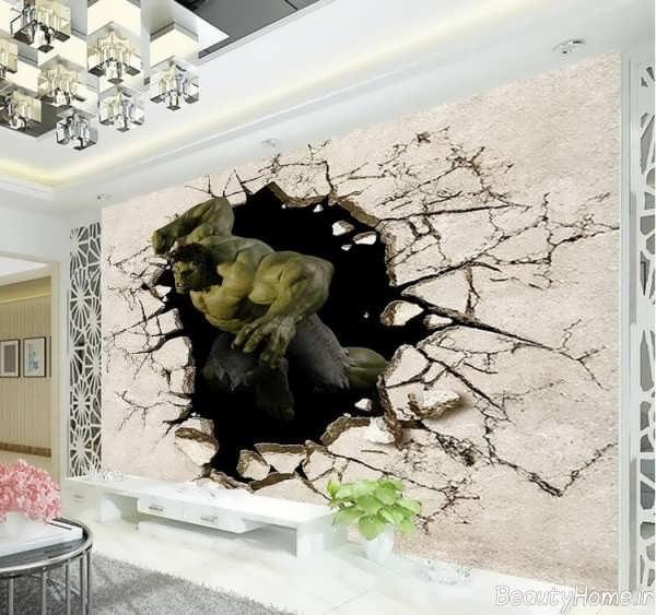 مدل کاغذ دیواری اتاق نشیمن